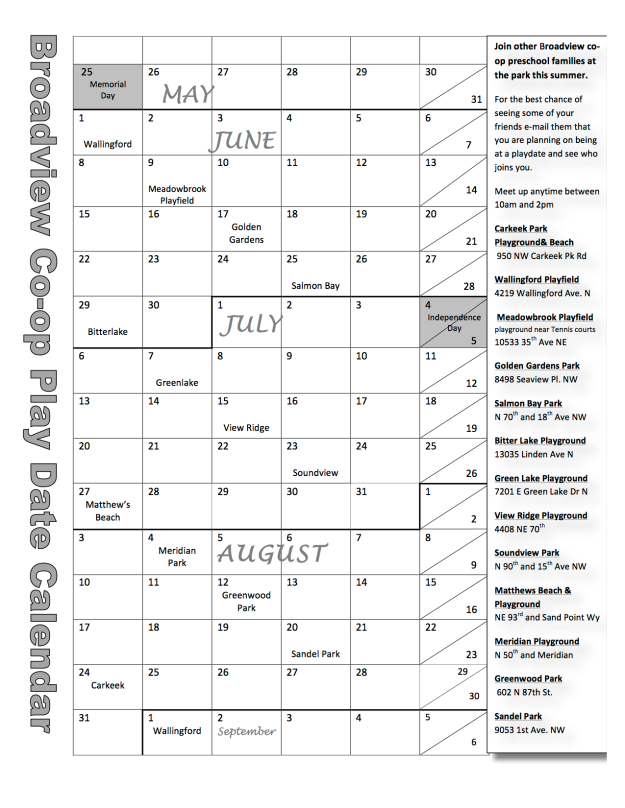 Broadview playdate calendar 2015